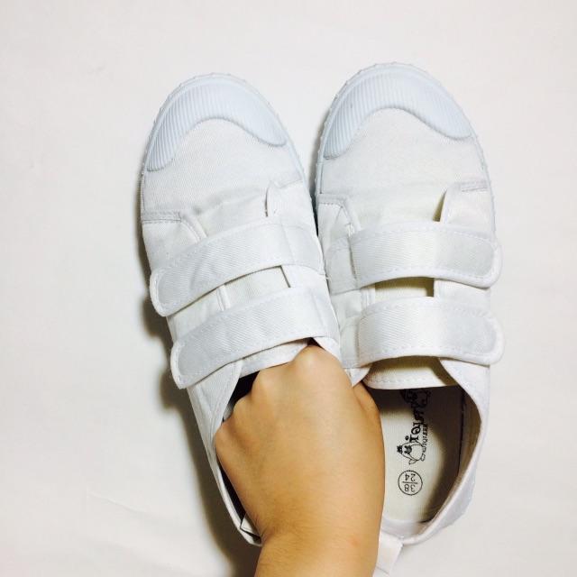 小白鞋 魔鬼粘