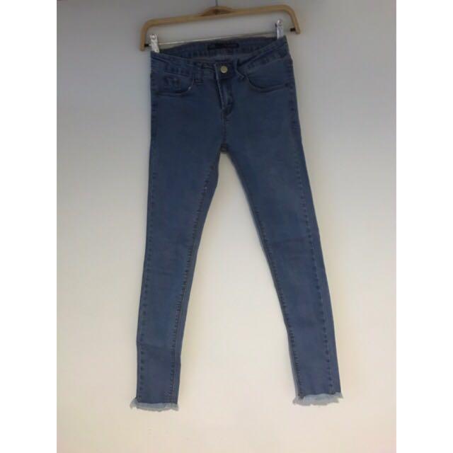 Sweesa 牛仔長褲 牛仔褲 小腳牛仔褲
