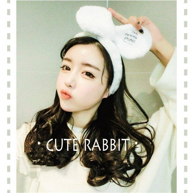 韓國 兔耳朵大蝴蝶結洗臉兔子髮帶COOL ENOUGH韓劇她很漂亮 高俊熙閔夏莉同款 $120