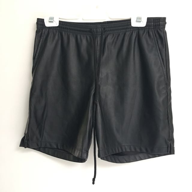 American Apparel Pu Leather Shorts