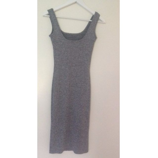 Bardot Grey Knit Dress