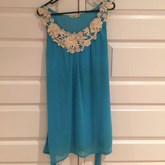 Blue And White Dress Size 10