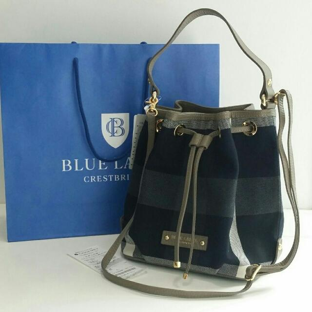 Burberry Blue Label Crestbridge Bucket Bag f4fb6f4a96e28