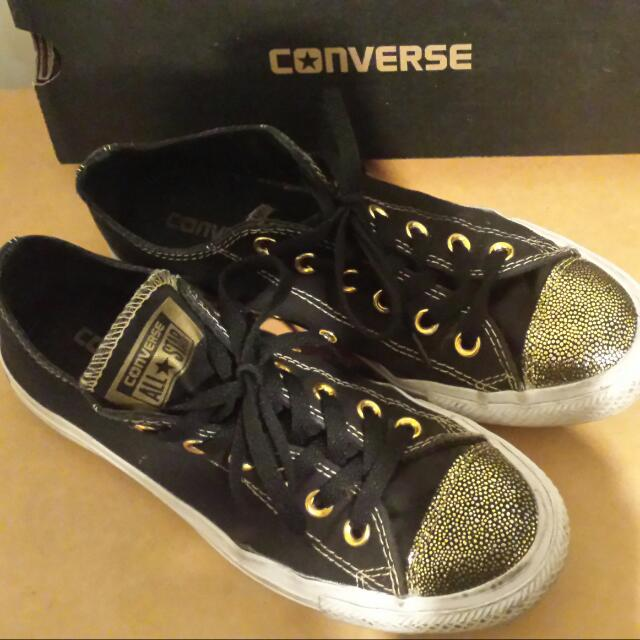On Hold Converse Gold Sparkle