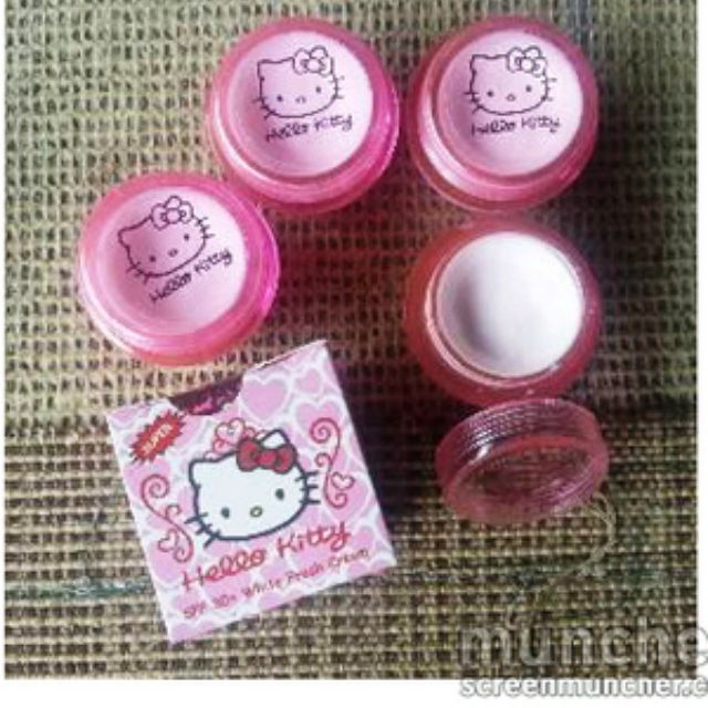 Cream Hello Kitty