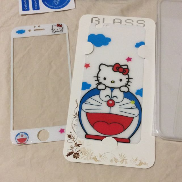 Cute iphone 6/6s Bling Sparkle tempered glass screen protector