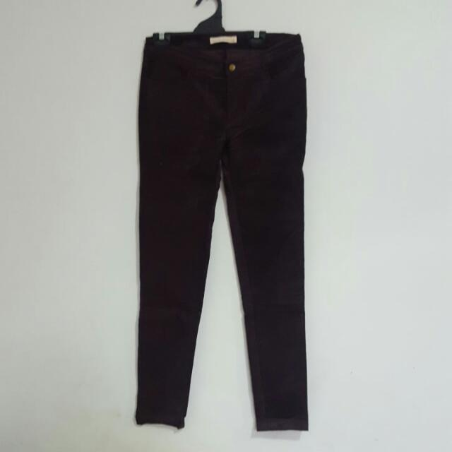 Dont Ask Amanda Purple Suede/velvet-Like Pants