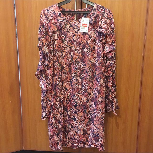 Floral H&M Long Sleeve Dress