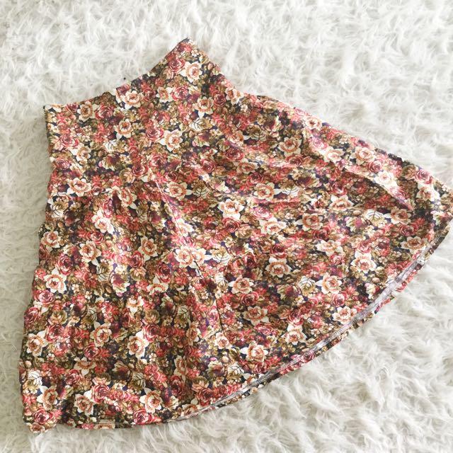 Floral Vintage Autumn Skirt