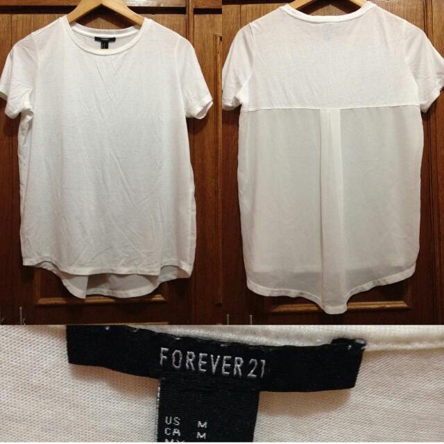 Forever 21 Chiffon-back Detail Top