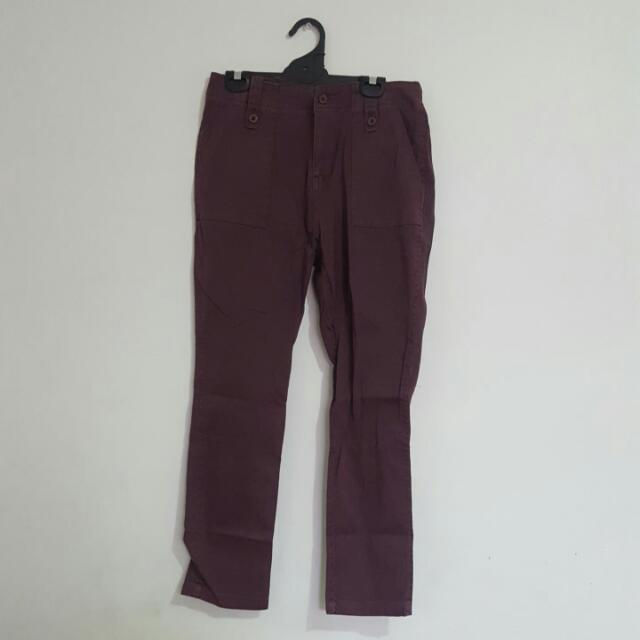 General Pants Purple Burgundy Chino Pants