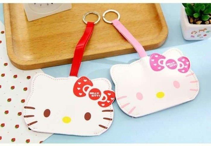 Hello kitty 皮革 鑰匙包 鑰匙圈 收納好方便  特價$150