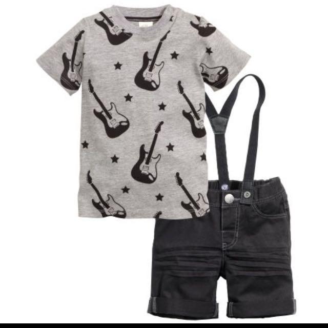 H&M 吊帶短褲