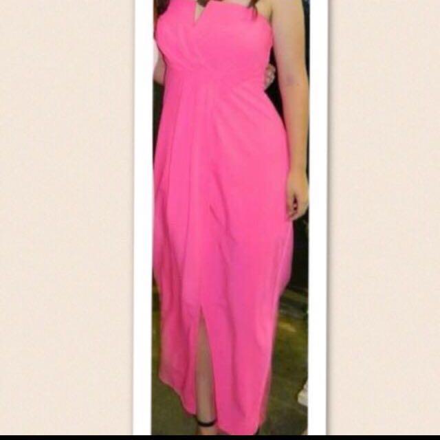 Hot pink Formal Dress Size 10