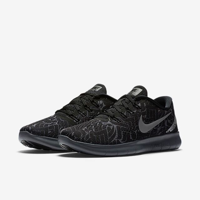 e1704339f4fbb LIMITED EDITION  Nike Free RN Rostarr (Women) - Black Dark Grey Wolf ...