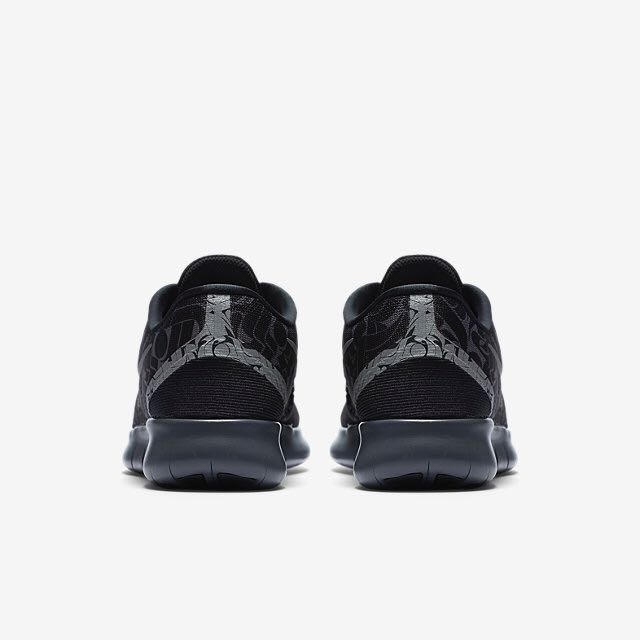 4b643f9b1a285  LIMITED EDITION  Nike Free RN Rostarr (Women) - Black Dark Grey Wolf Grey Reflect  Silver