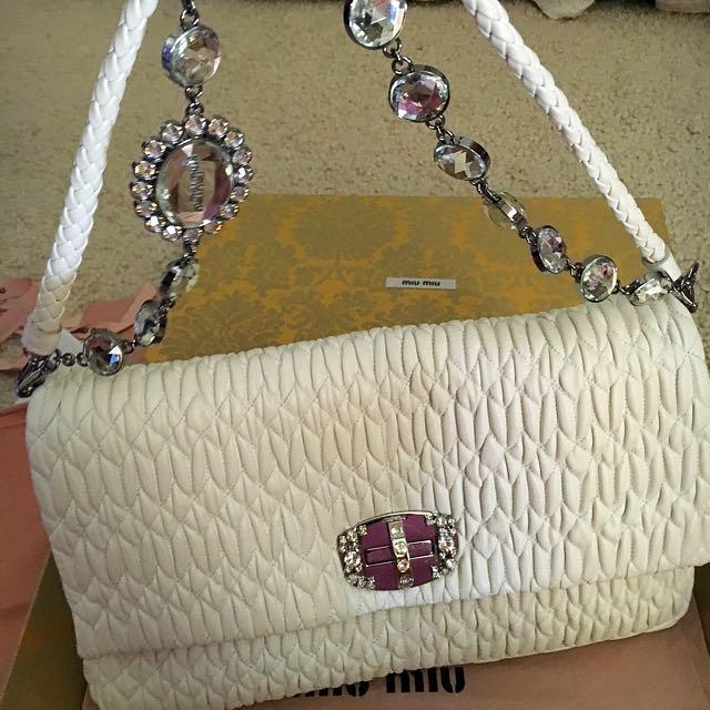 Miu Miu crystal Nappa Bag