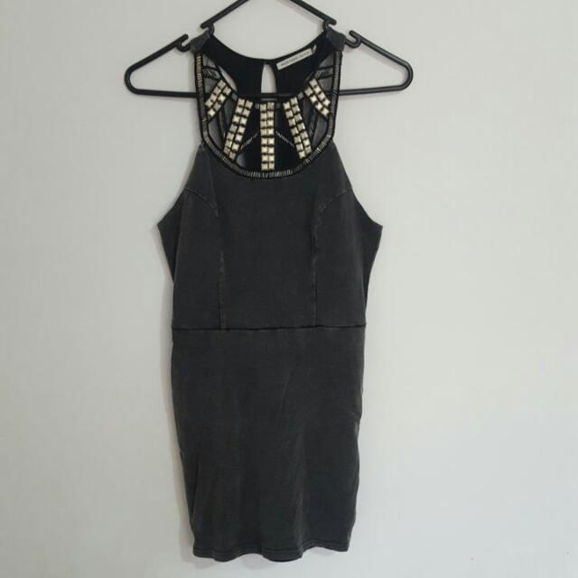 Mustard Seed: Nastygal Grey Bodycon Dress