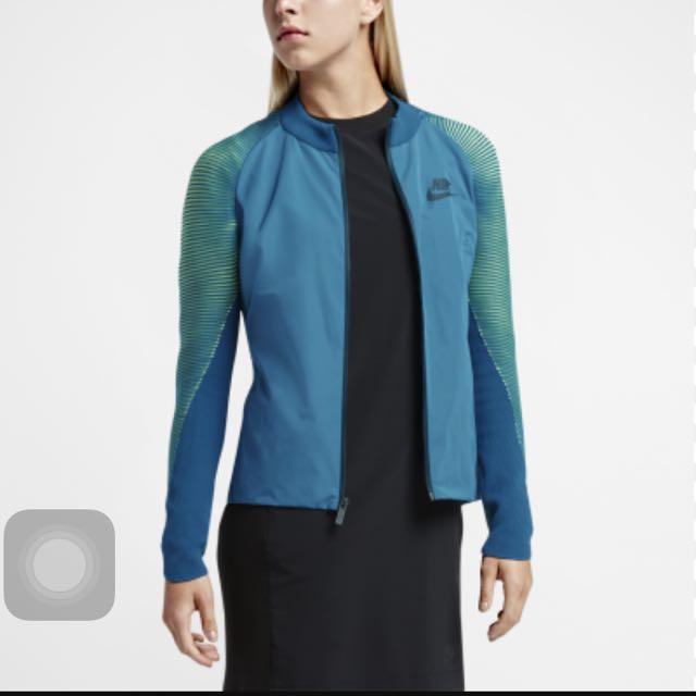 NIKE SPORTSWEAR DYNAMIC REVEAL 藍綠 針織 風衣外套 828293-351/S號