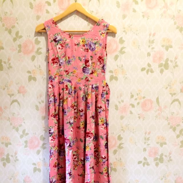 Preloved! Pink Shabby Maxi