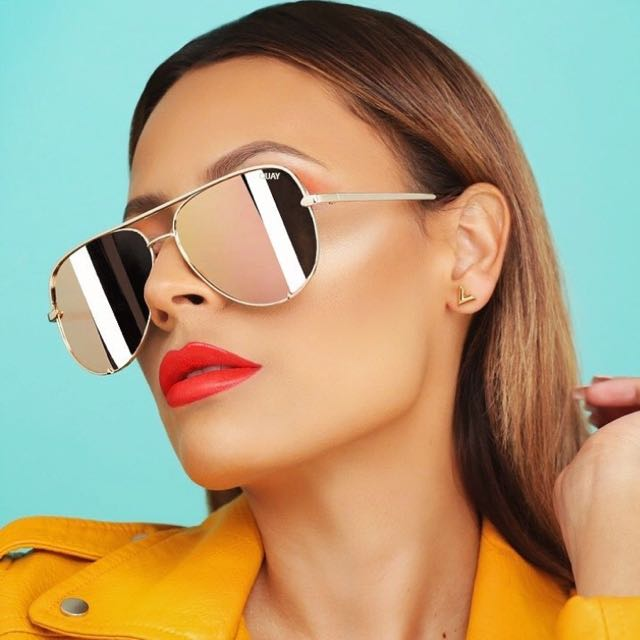 QUAY X DESI PERKINS HIGH KEY GOLD SUNGLASSES (Hold)