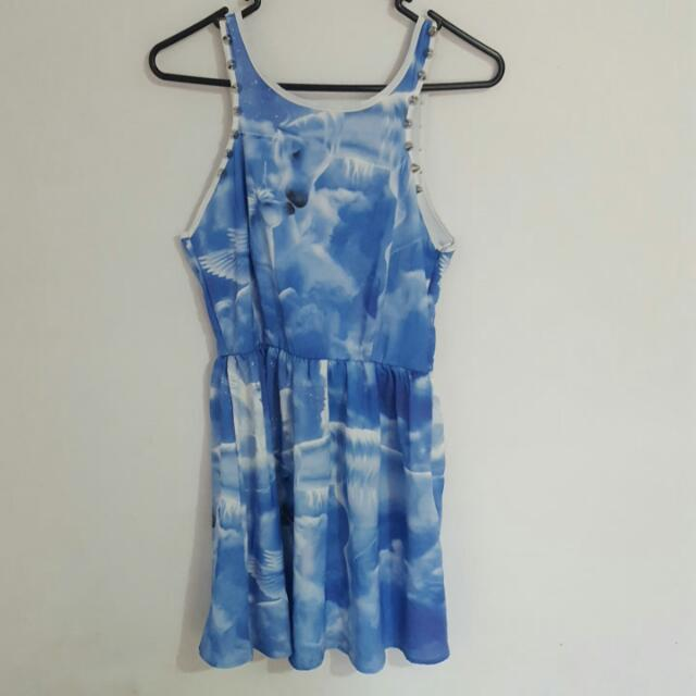 Reverse Blue Unicorn Dress
