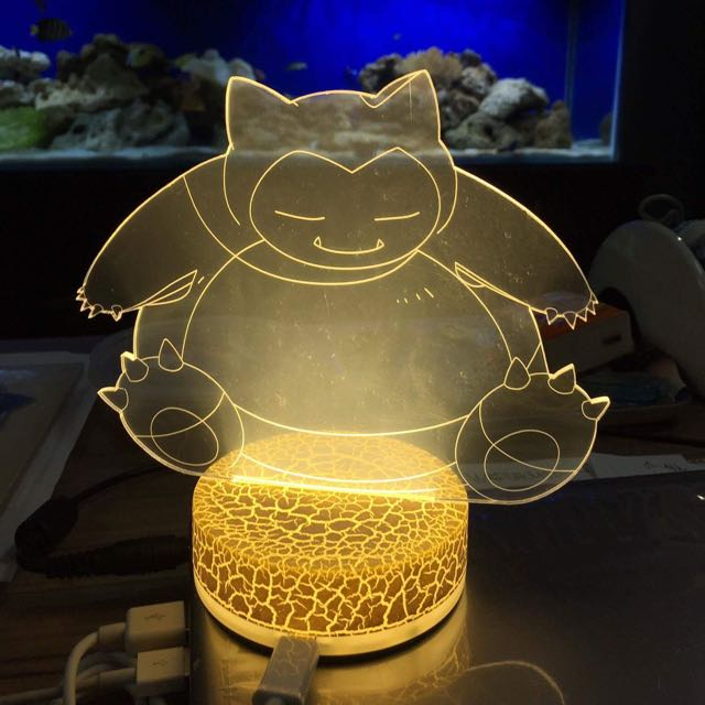Snorlax Lamp Led Pokemon On Carousell O0Pknw