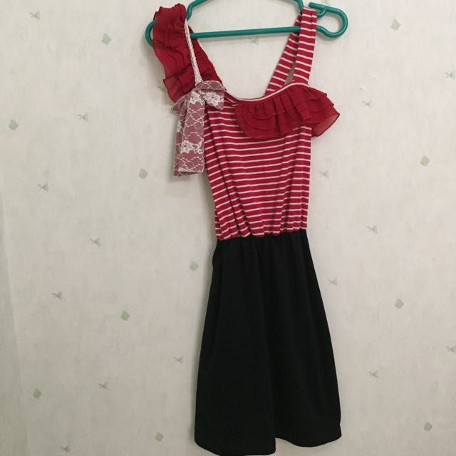 STRIP MERAH HITAM DRESS