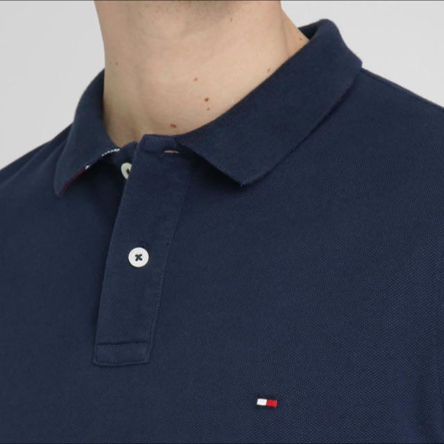 Tommy Hilfiger Navy Blue polo (size S)