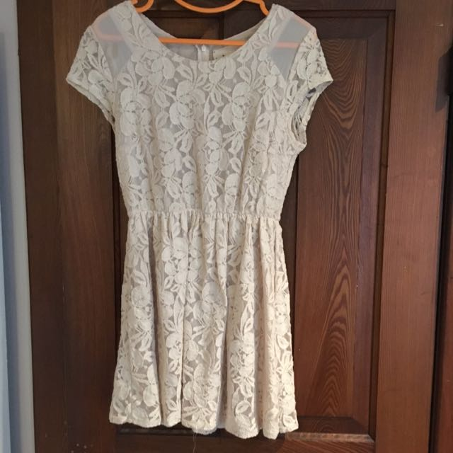 Urban Outfitters White Lace Dress