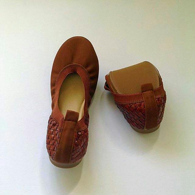 Weave Brown Flats
