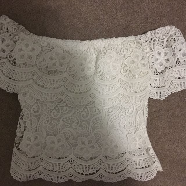 White Strapless Top