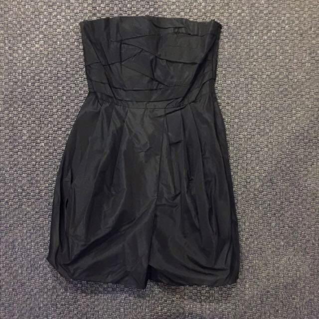 New ZARA BASIC Black Tube Dress