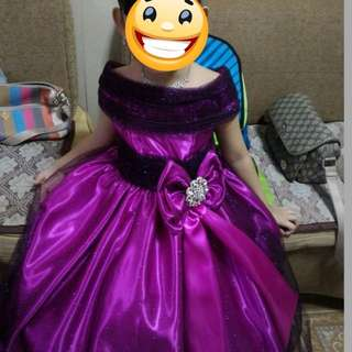 Gown For Rent For Ages 5-6yrs Old