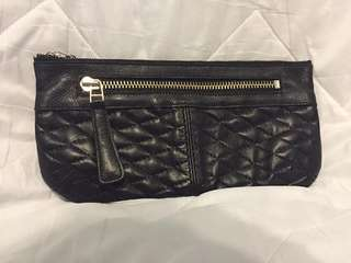 Roots Leather Quilted Pouche