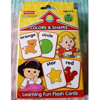Fisher Price Colors & Shapes Flash Card