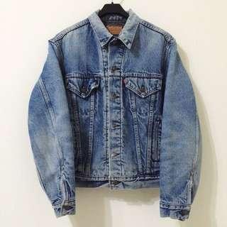 古著 Vintage 80's Levi's Levis 舖棉 毛毯 牛仔外套 單寧刷毛夾克 美國製