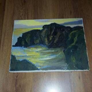 竹上義治 油彩 風景畫