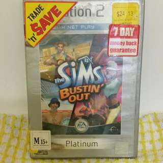 Playstation 2 - Sims Bistin' Out