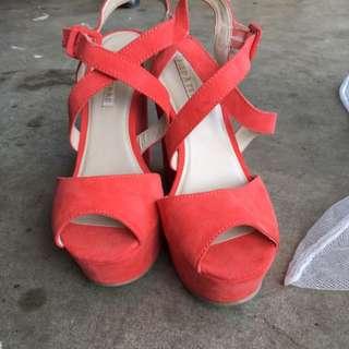 Peach Heels Size 9