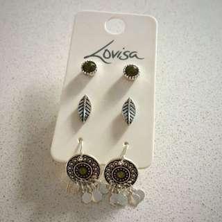 Lovisa 3 Piece Earring Set