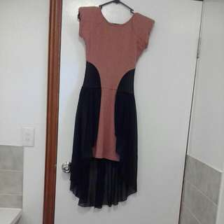 Semi Formal Dress With Padded Shoulders