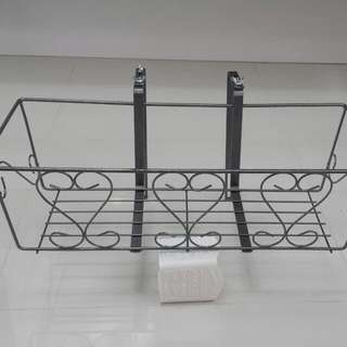 Planting Accessories - Metal Flower Rack w Adjustable Hanger (L57cm x W25cm x H18cm)