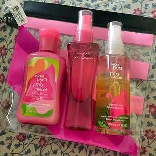 Sweet Pea Bath & Body Works Set