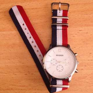 Migeer Nylon Strap Casual Wrist Watch