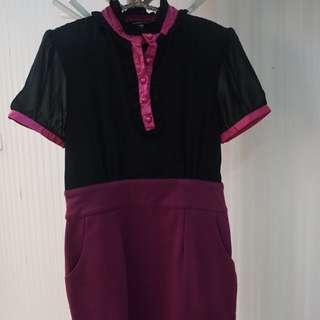 Mini Dress Two Tone