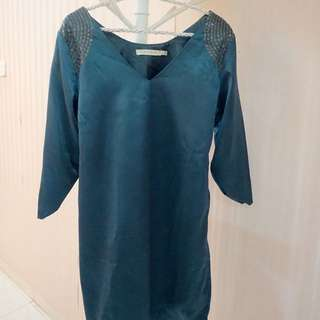 Mini Dress Biru Tosca Karliqua Size S