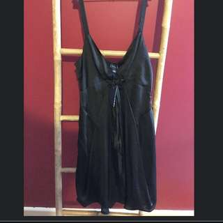 Black Silk Whitchery Dress