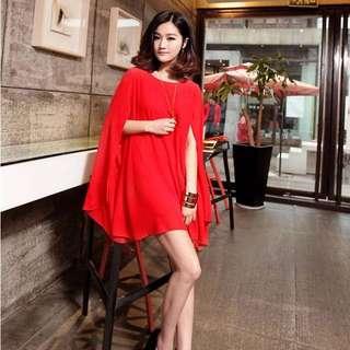 連衣裙(紅色)