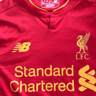 2016/17 Liverpool Home Jersey Long Sleeve Large Size